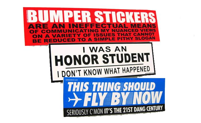 Cool Bumper Stickers