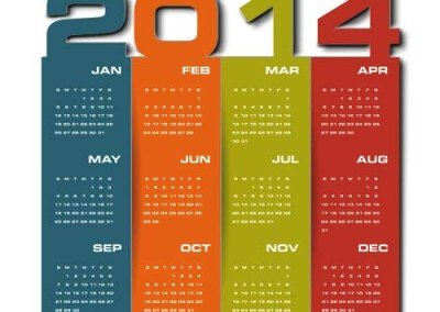 1 Page Calendars