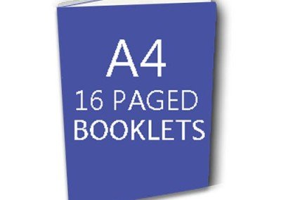 16 Pages Booklet