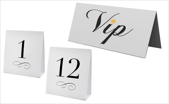 2.8″ x 11″ Table Tents