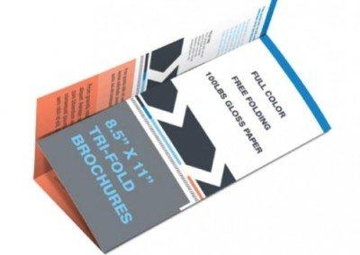 8.5″ x 11″ Brochure Printing