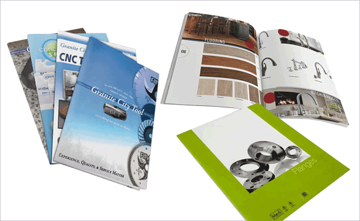 Commercial Catalog Printing with Free Worldwide Shipping