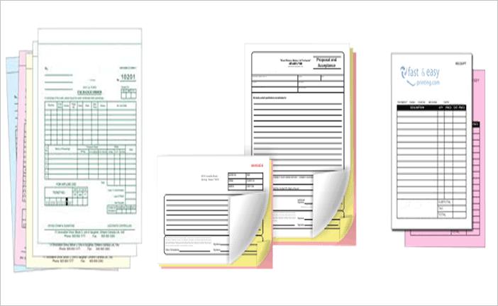 Carbonless Forms Printing