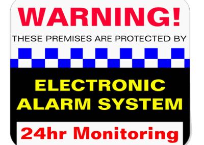 Alarm Decals