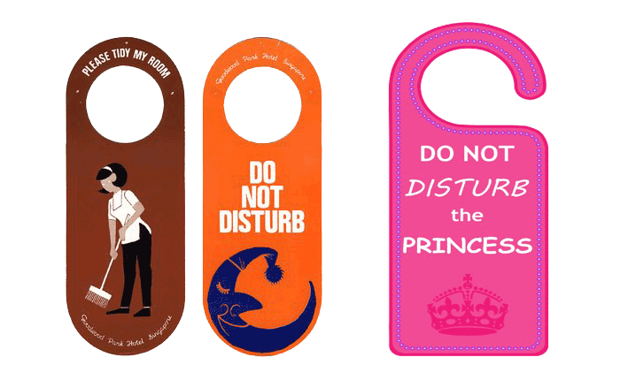 Do Not Disturb Door Hangers Printable with Free Shipping
