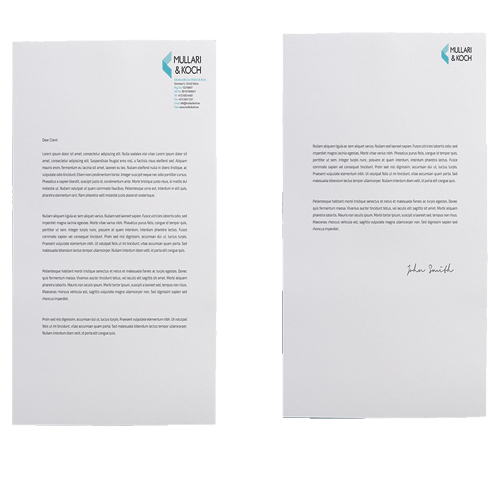 how to make a letterhead in pages