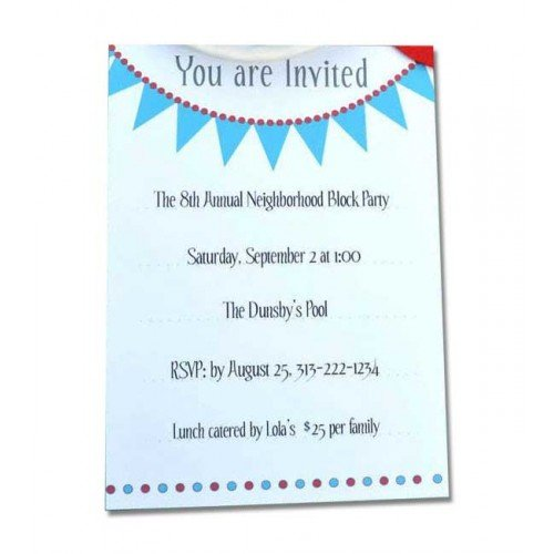 Party Invitations Printing