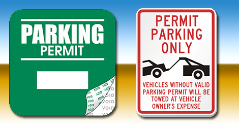 Custom Parking Stickers