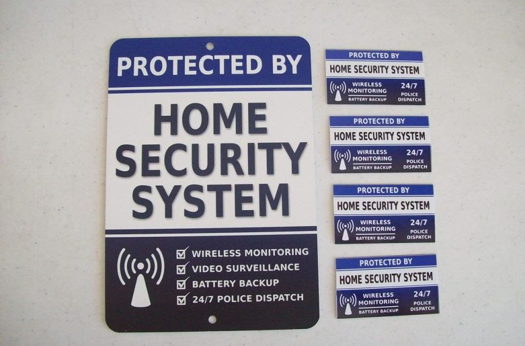 Home security stickers protect your home and loved ones