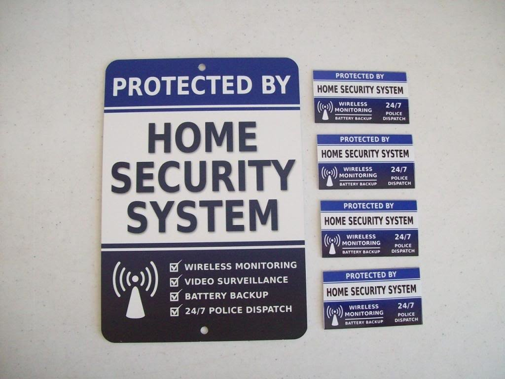Home Security Stickers