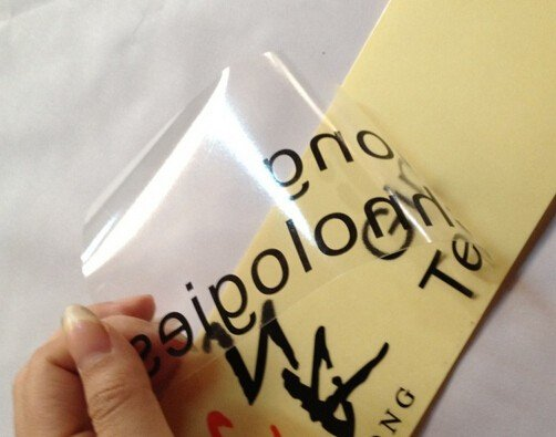 Clear Vinyl sticker