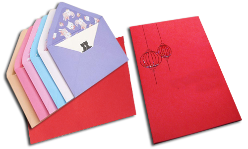 new year greeting envelopes