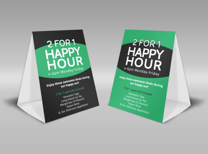 printed table tents