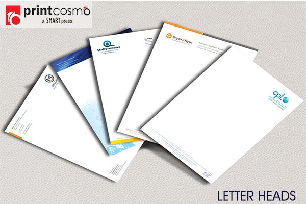 Letterheads highlighting your logo