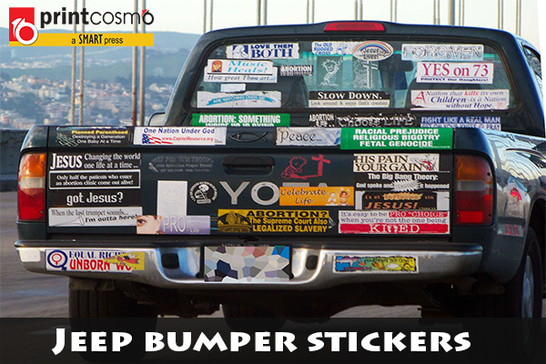 Black friday special get jeep bumper stickers at cheap rates
