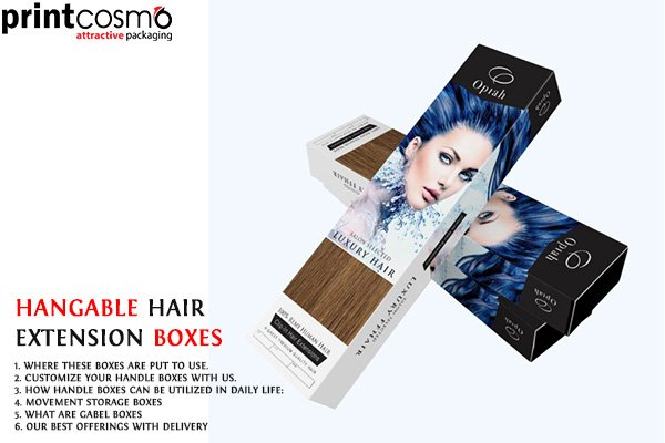 Design Your Hangable Hair Extension Boxes with Printcosmo Packaging