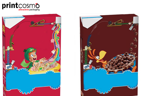 Custom Printed Cereal Boxes-Show the Taste Outside As Well
