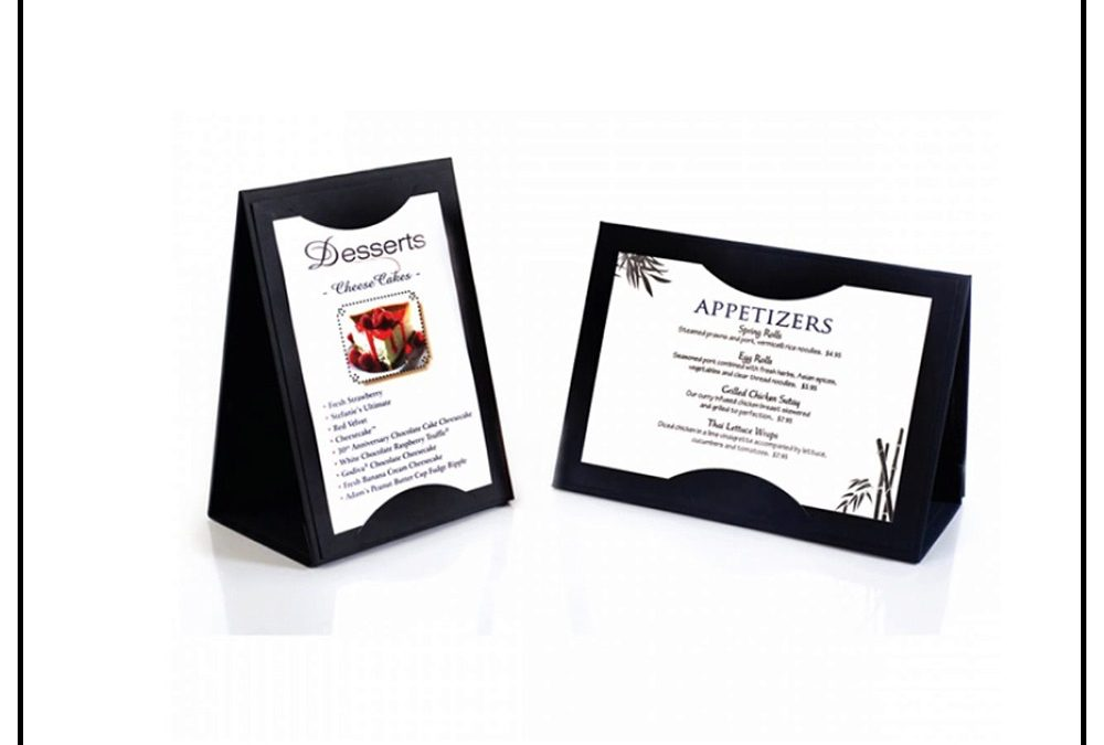 Custom Table Tents & Table Tent Printing